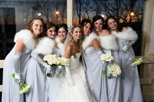 Faux fur shrugs add a seasonal element to your wedding photos and keep