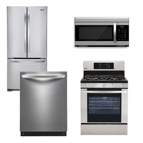 lg kitchen appliances packages package 1 lg appliance package 4 piece appliance