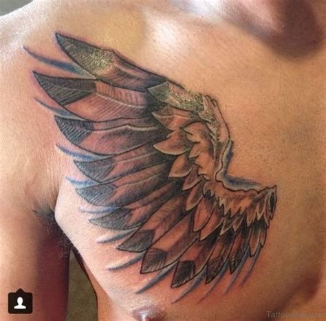 wing tattoo under breast 70 stylish wings for chest