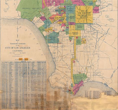 annexation of map citydig how los angeles annexed the port on a shoestring