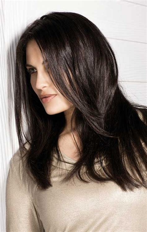 haircuts for long straight dark brown hair 20 best layered hairstyles for women hairstyles