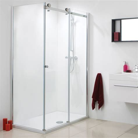How To Clean Sliding Shower Doors Motion Frameless Single Sliding Door Easy Clean Glass 8mm Buy At Bathroom City