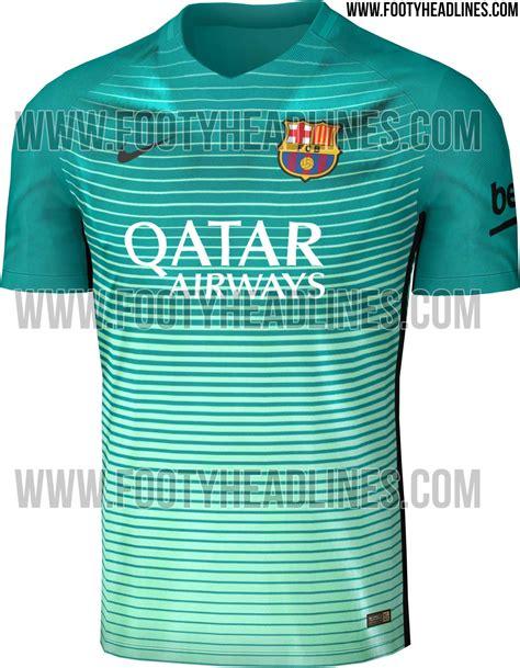 Barcelona 3rd 201516 Black Leaked nike 2016 17 third kits leaked footy headlines