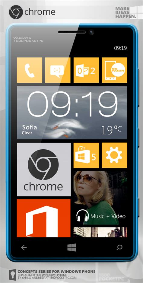 chrome for windows mobile concept chrome for windows phone 8 wp7 connect