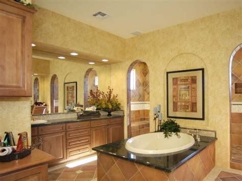tuscan style bathroom decor tuscan bathroom clay colored tiles and faux finished gold
