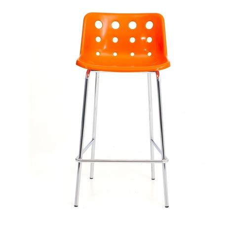 Orange Stool by Loft Robin Day 4 Leg Orange Plastic Polo Bar Stool By