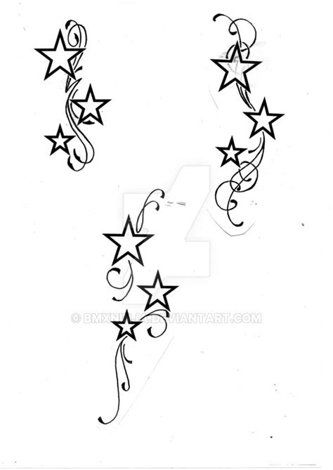star and swirl tattoo designs with swirls by bmxninja on deviantart nails and