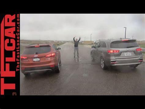 P0335 Kia Sorento 2016 Kia Sorento Vs Hyundai Santa Fe Mashup Drag Race Review
