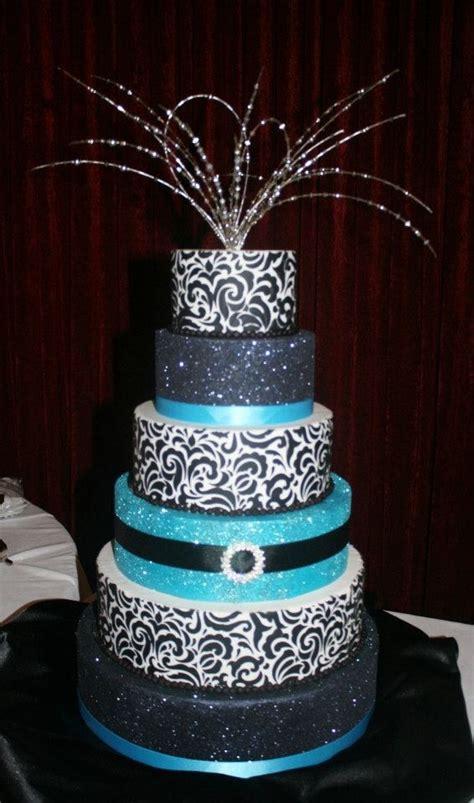 tiffany blue black and purple tiffany blue bling cake vintage pinterest bling