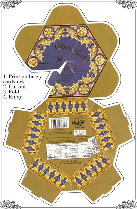 printable chocolate frog box diy paper crafts pinterest