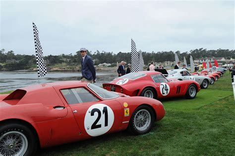 exotic cars lined photos pebble beach concours d elegance showcases most