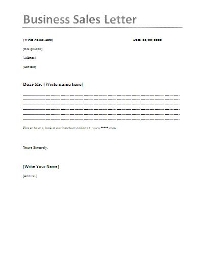 7 sale letter format quote templates