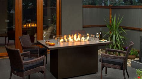 Indoor And Outdoor Fireplaces Patio Fireplace Table