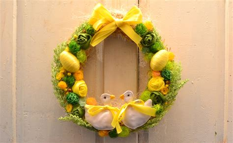 Wreath Handmade - 18 cheerful handmade easter wreath designs to get your