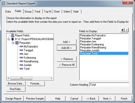 membuat database raport cara membuat laporan crystal report database access mdb