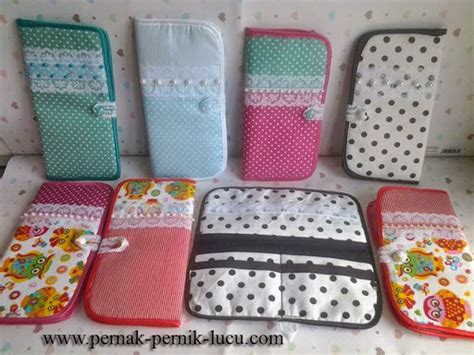 diy wallet cotton pretty unique pernak pernik lucu