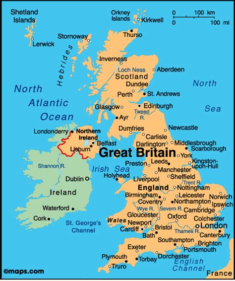 map of the united kingdom with major cities maps europe map of uk united kingdom political
