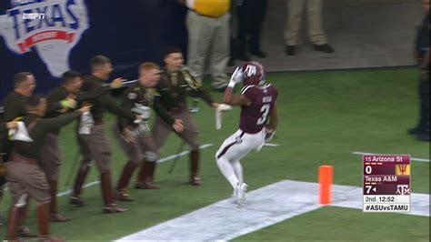 2015 texas am football vs asu aggies go 79 yards on kick return for td espn video
