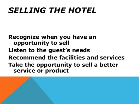 up selling hotel rooms upselling methods