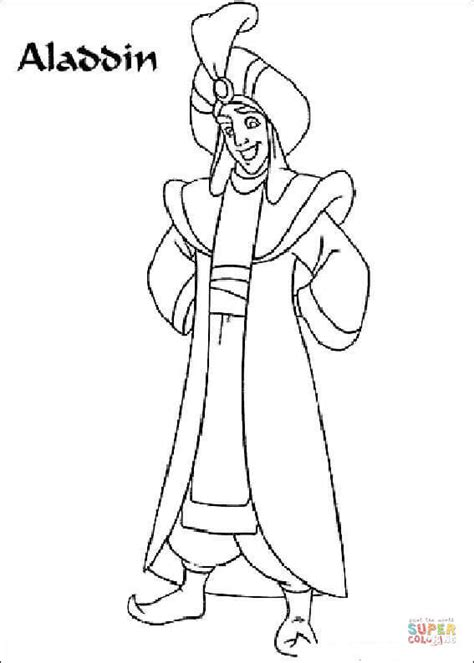 aladdin coloring pages games picture of aladdin prince ali coloring page free