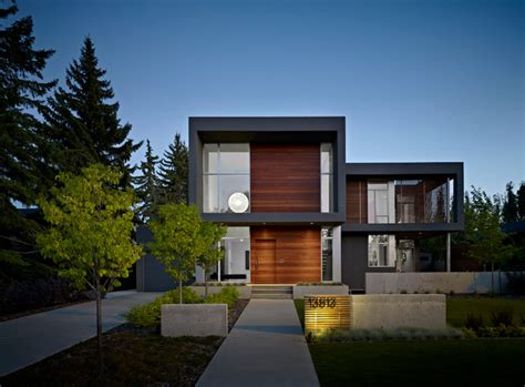 modern home design edmonton the summit modern exterior edmonton by habitat studio