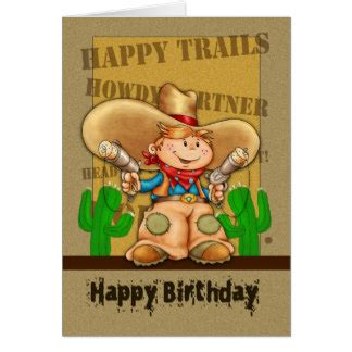 Cowboy Birthday Card Templates by Cowboy Birthday Cards Photo Card Templates Invitations