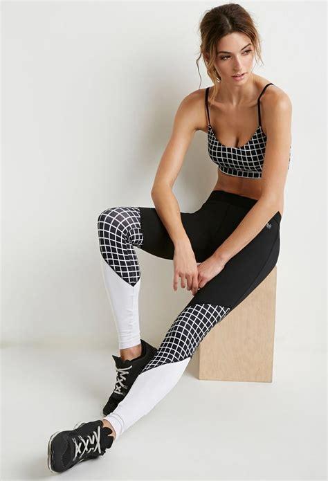 Forever 21 Legging Celana Senam Fitness colorblocked checkered athletic forever 21 2000173168 duds for desportes