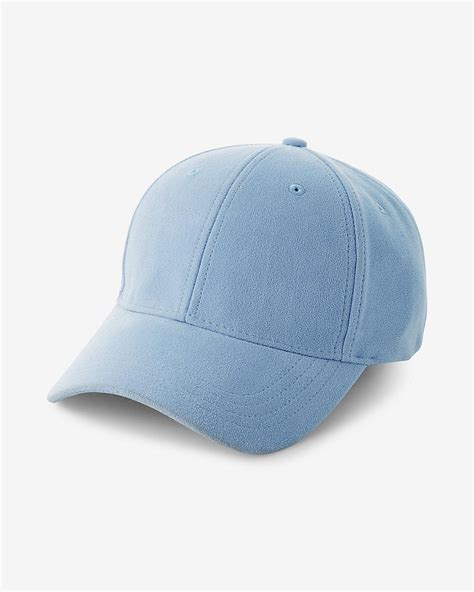 Faux Suede Baseball Hat lyst express faux suede baseball hat in blue for