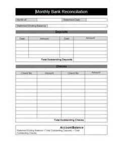 excel bank account template bank reconciliation template cyberuse