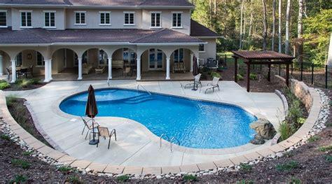 Backyard Pools Nc Inground Swimming Pools Mooresville Nc Lake Norman