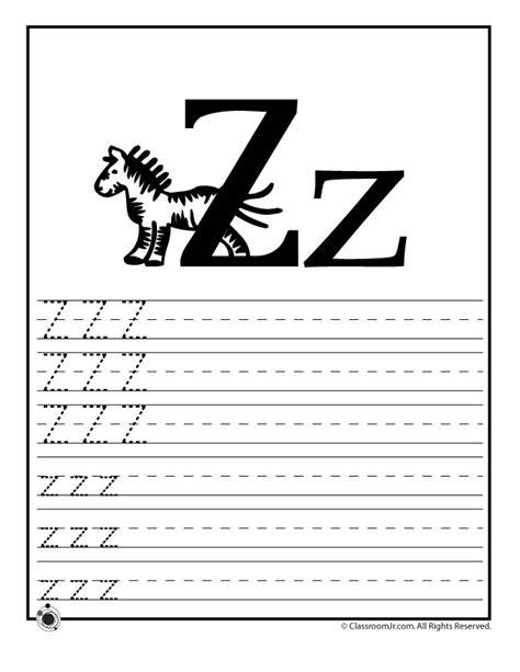 letter z worksheet learn letter z woo jr activities