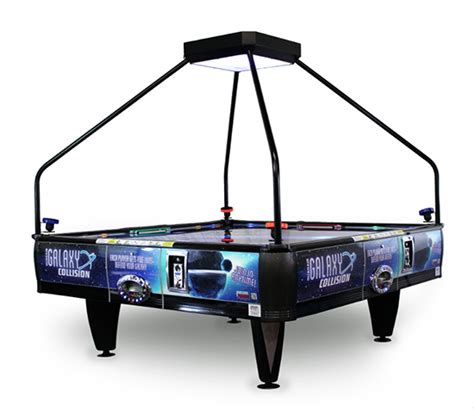 galaxy four way air hockey table arcade