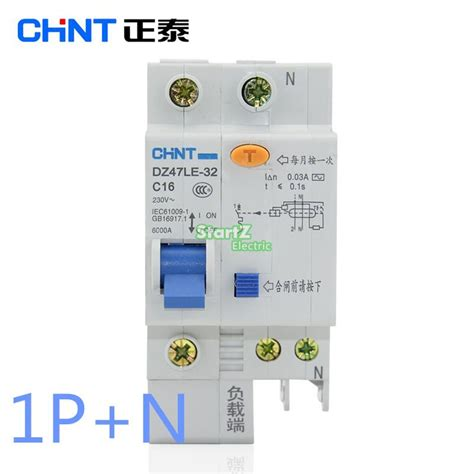 Chint Mcb Eb 1 P 20 A 4 5ka chint dz47le 1p n 10a 16a 20a 25a 32a 40a 50a 60a residual current circuit breaker rcbo us44
