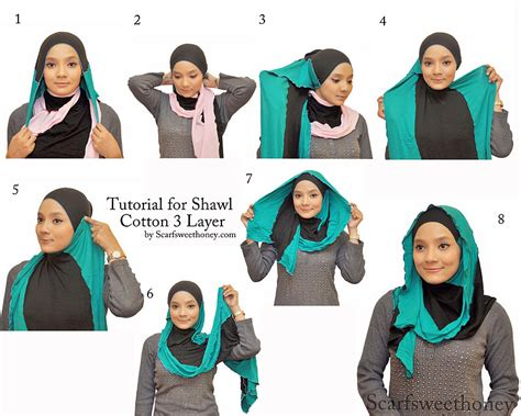 tutorial hijab paris layer cara modifikasi jilbab hijab