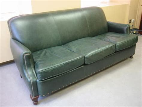 Leather Sofa Green by Traditional Green Leather Sofa Conklin Office Furniture