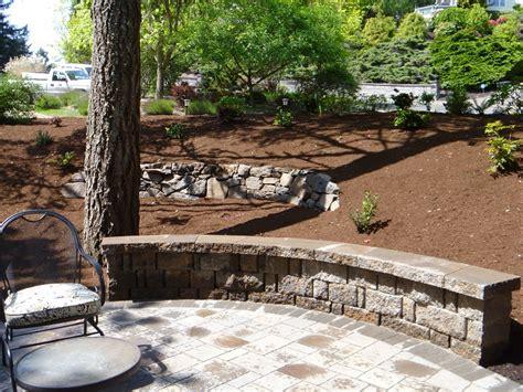 Landscape Architecture Eugene Rock Seat Walls Eugene Landscape Design Graham