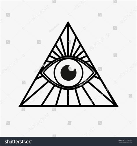all seeing eye magical element eye stock vector 275381555