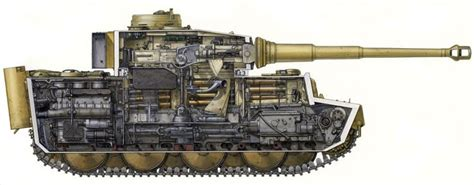 tank section artwork of armies tanks a lot tiger tank cross section