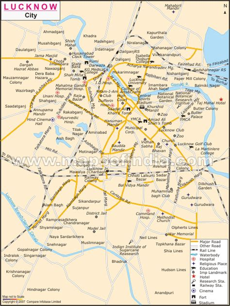 map of lucknow city a day of quot tour quot of lucknow