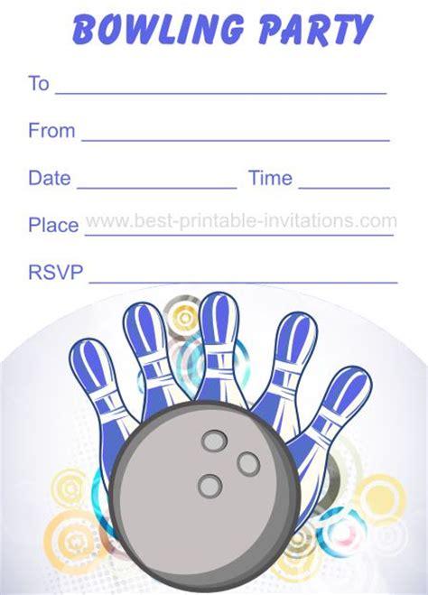 bowling birthday invitations free templates free printable bowling invitations