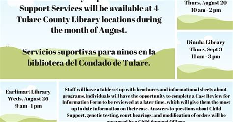 County Child Support Office by Tulare County Library News Events Tulare County