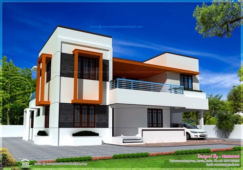 flat roof house designs 4 bedroom flat roof house in 2548 sq ft kerala home design and floor plans