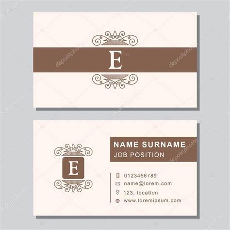 Design Vorlage Brief Visitenkarte Vorlage Mit Abstrakten Monogramm Design