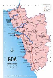 Goa India Map by Goa India Road Map Goa India Mappery