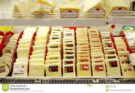 cheese in supermarket editorial stock photo image 34277388