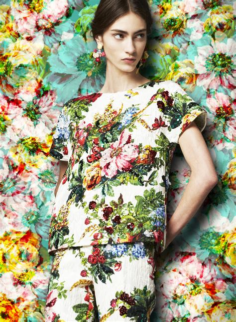 Editorial Dress Of The Month Dolce Gabbana by Princesa Nadie Flowers And Fruits