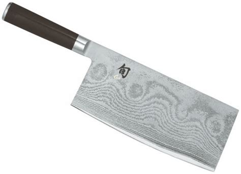 Damascus Steel Kitchen Knives kai shun chinese chef s cleaver 19 4cm dm 0712