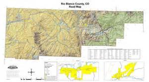 blanco road map colorado counties