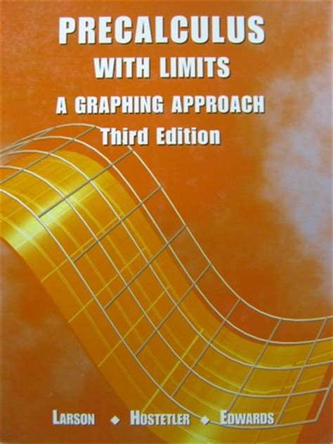 precalculus books precalculus with limits 3rd edition h by larson