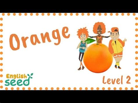 orange color song orange is orange color song for with flashcards